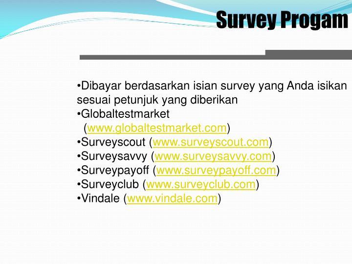 Survey Progam