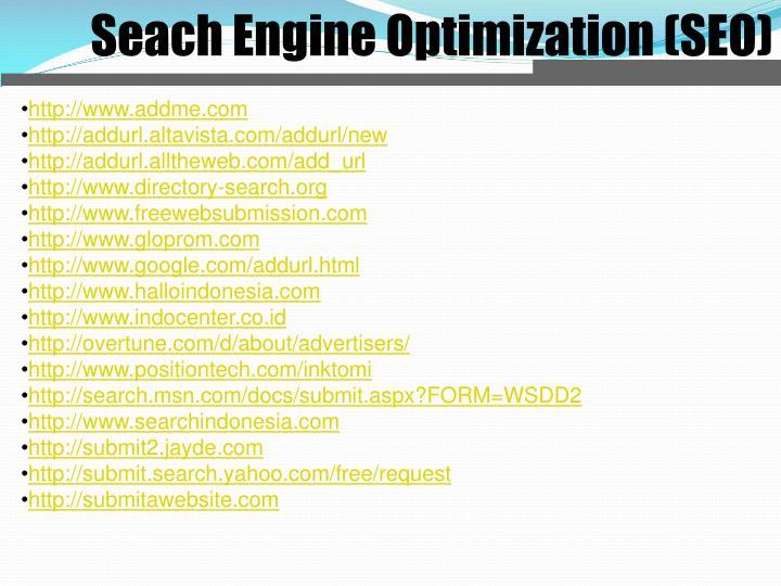 Seach Engine Optimization (SEO)