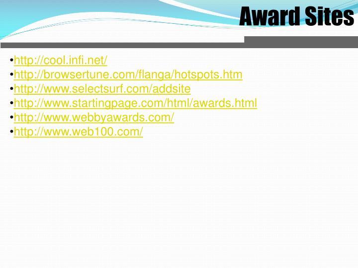Award Sites