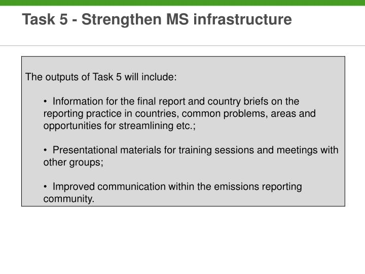 Task 5 - Strengthen MS infrastructure