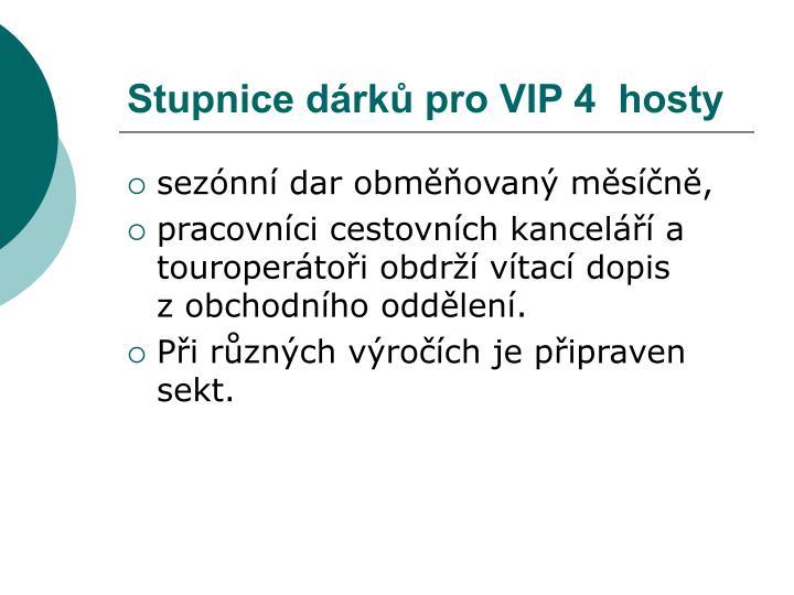 Stupnice dárků pro VIP 4  hosty