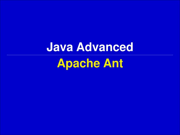 Java advanced