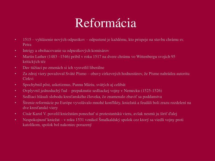 Reformácia