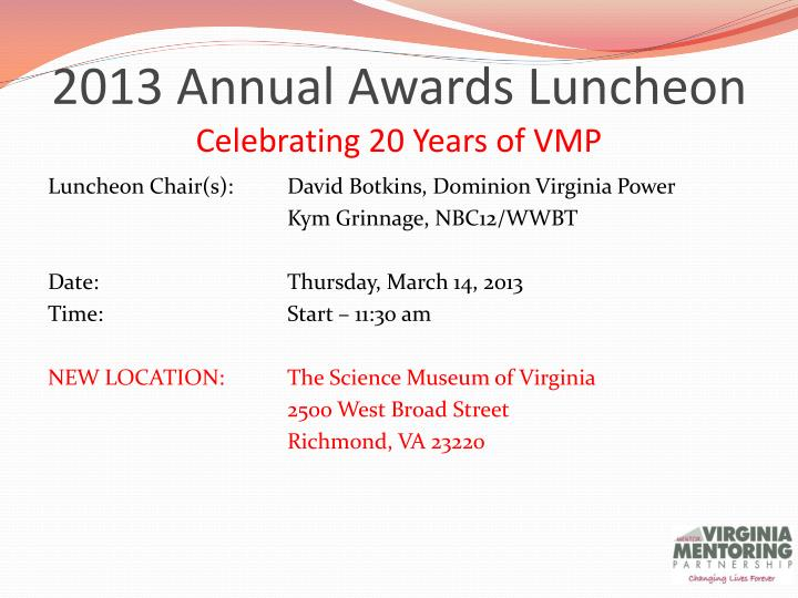 2013 Annual Awards Luncheon