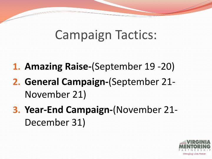 Campaign Tactics: