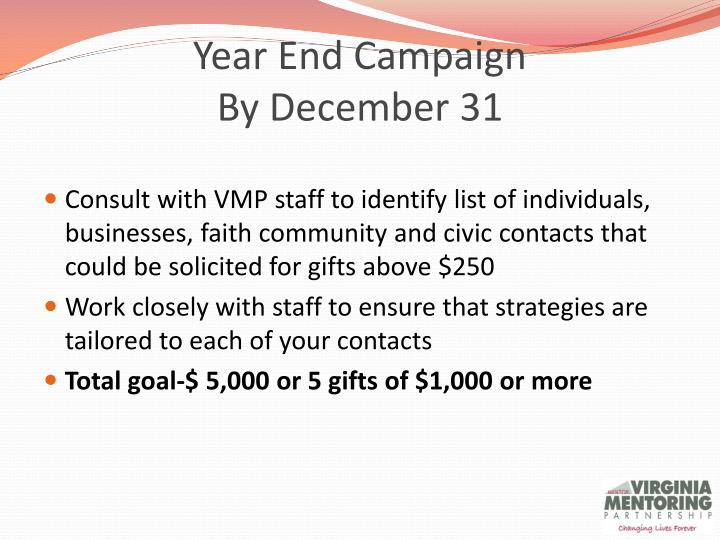 Year End Campaign