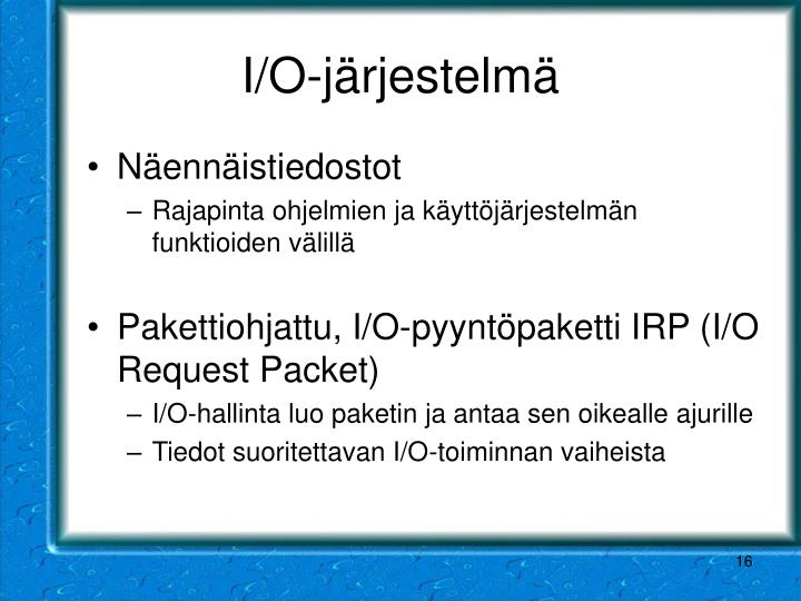 I/O-järjestelmä
