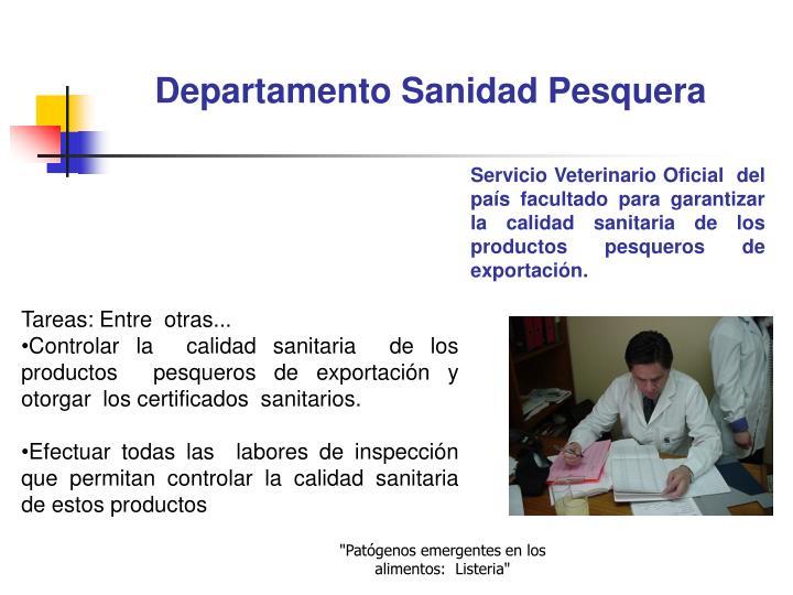 Departamento Sanidad Pesquera