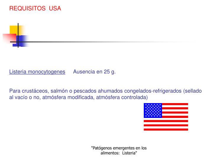 REQUISITOS  USA