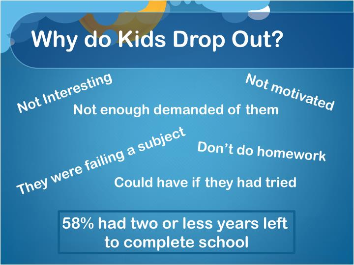 Why do Kids Drop Out?