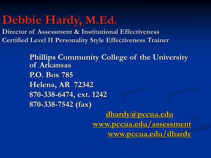 Debbie Hardy,