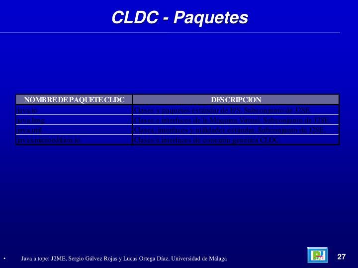 CLDC - Paquetes