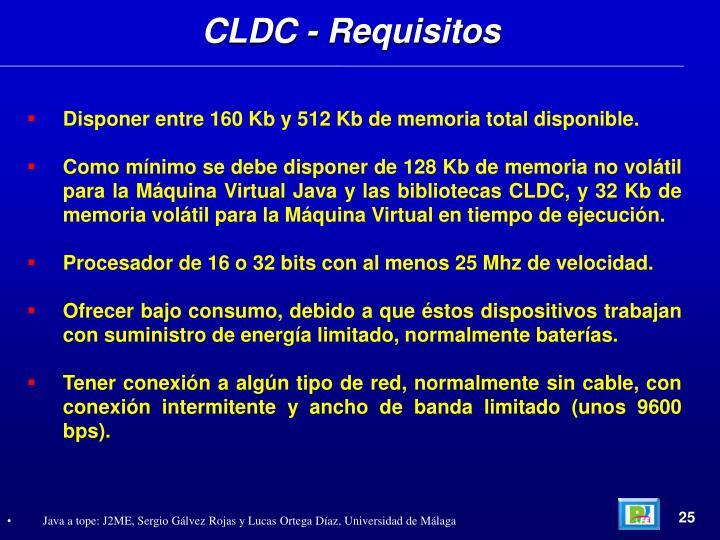 CLDC - Requisitos