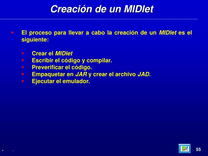 Creación de un MIDlet