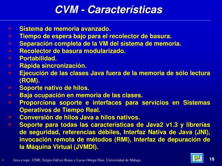 CVM - Características