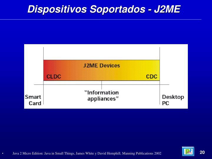 Dispositivos Soportados - J2ME