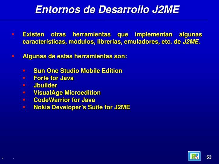 Entornos de Desarrollo J2ME