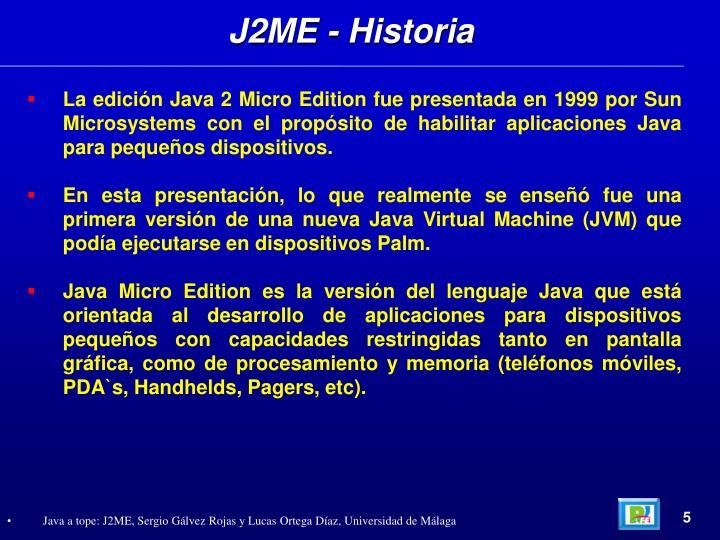 J2ME - Historia