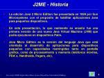 j2me historia