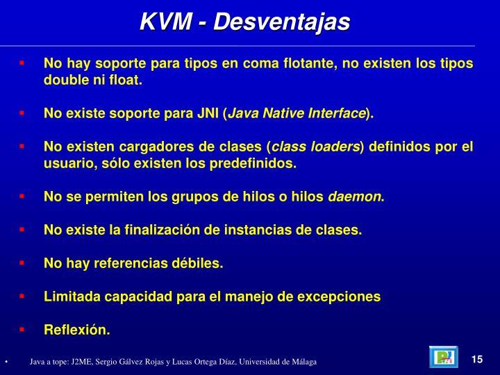 KVM - Desventajas