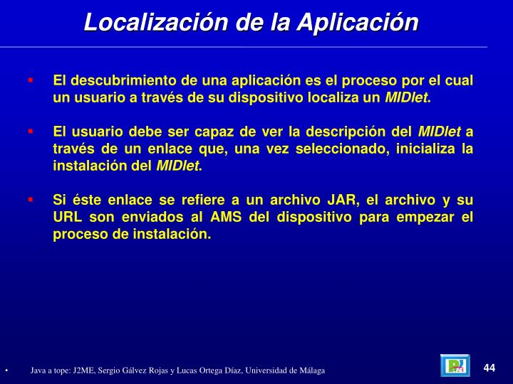 Localización de la Aplicación