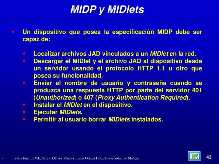 MIDP y MIDlets