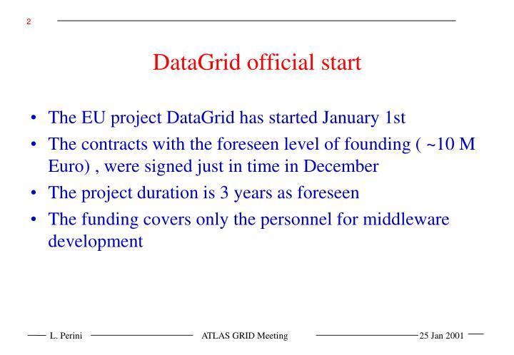 DataGrid official start