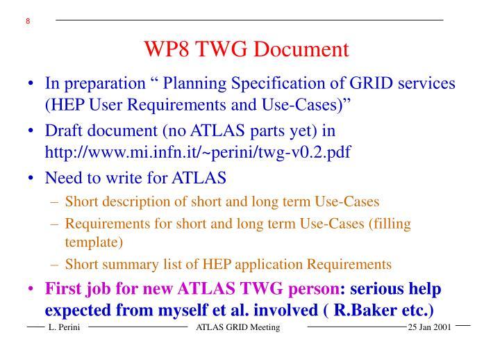 WP8 TWG Document