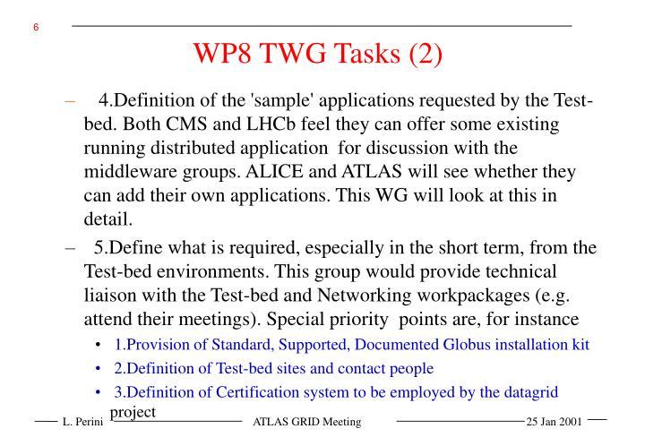 WP8 TWG Tasks (2)