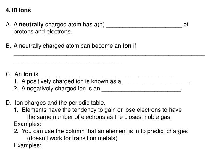 4.10 Ions