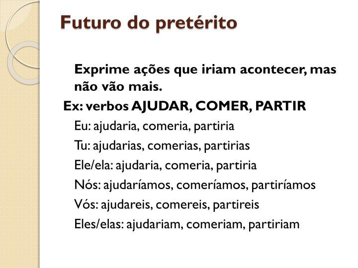 Futuro do pretérito