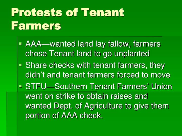 Protests of Tenant Farmers