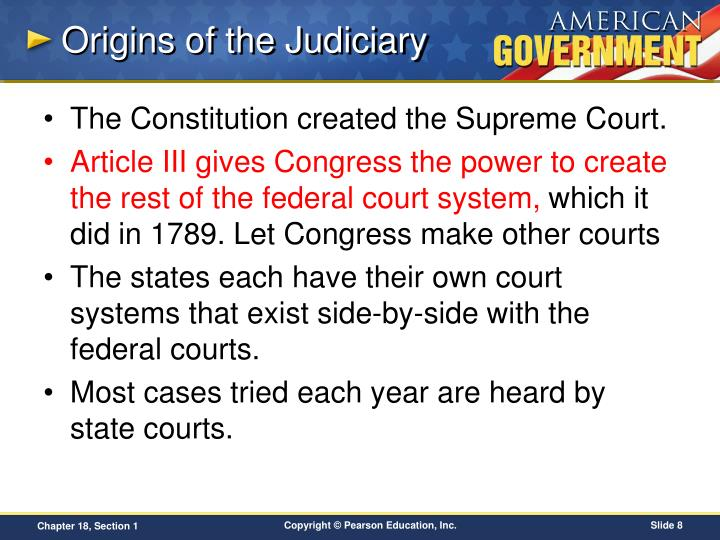 Origins of the Judiciary