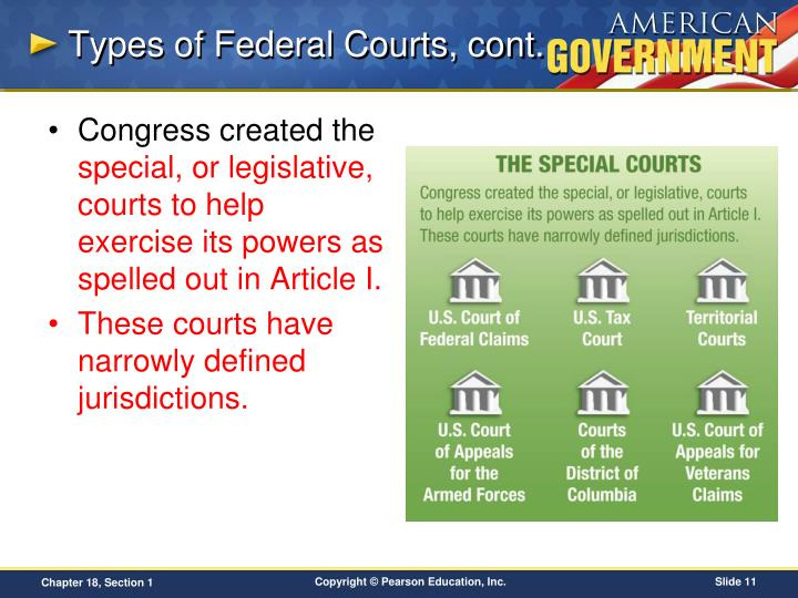 Types of Federal Courts, cont.