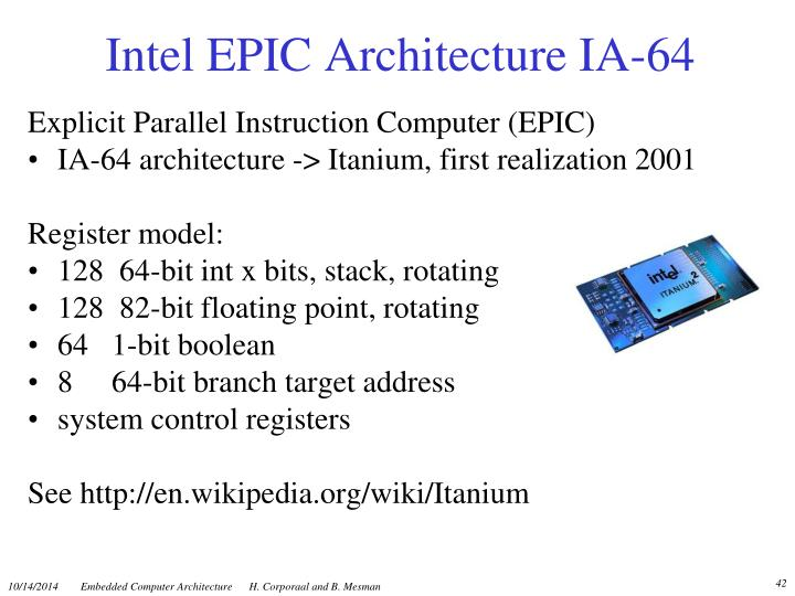 Intel EPIC Architecture IA-64