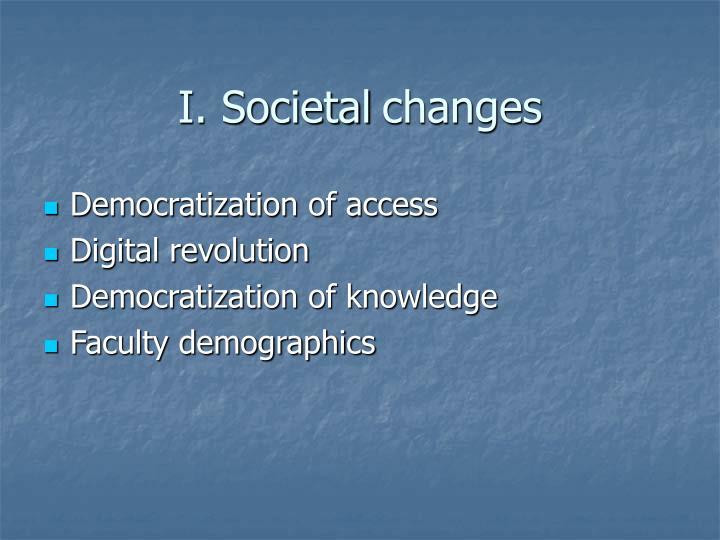 I. Societal
