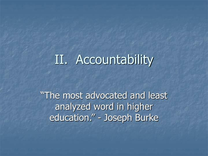 II.  Accountability