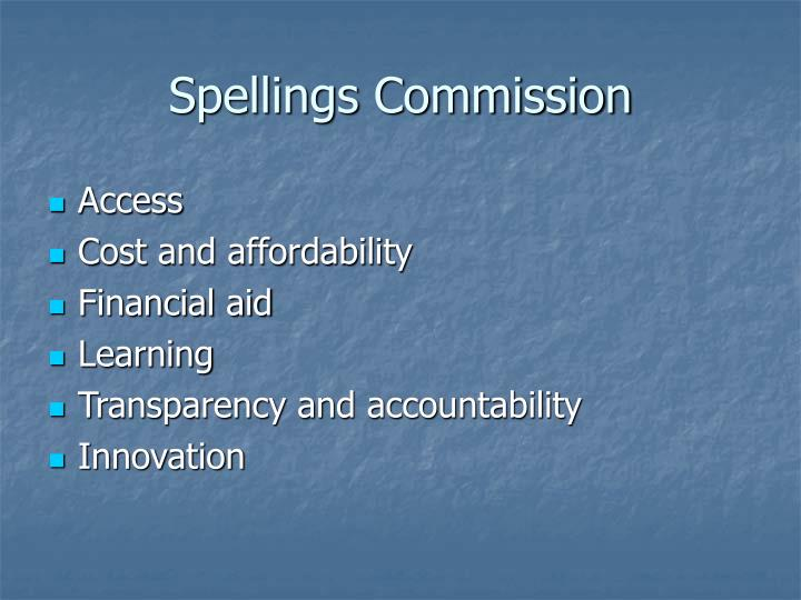 Spellings Commission