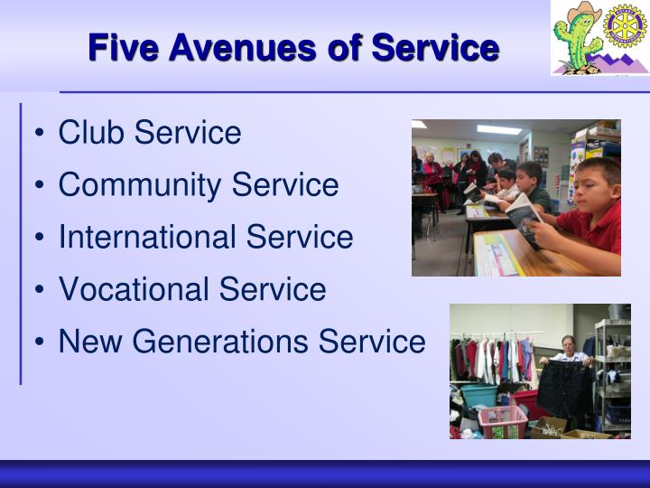 Five Avenues of Service