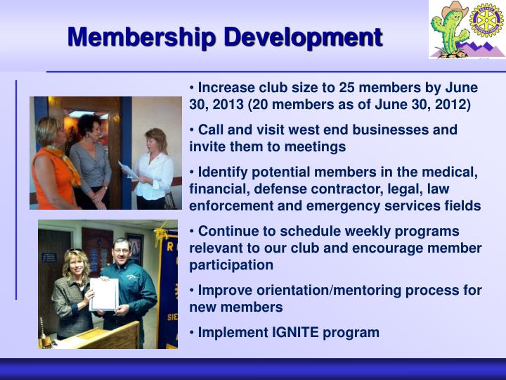 Membership Development