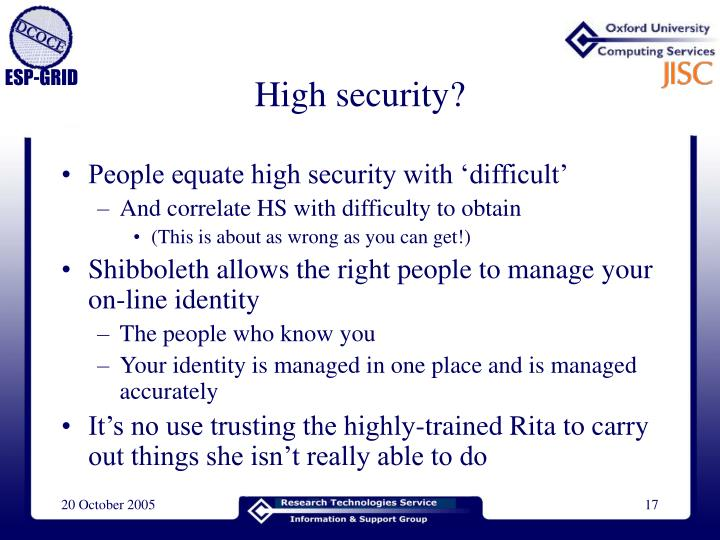 High security?