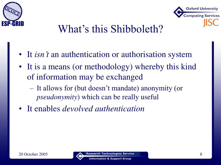 What's this Shibboleth?