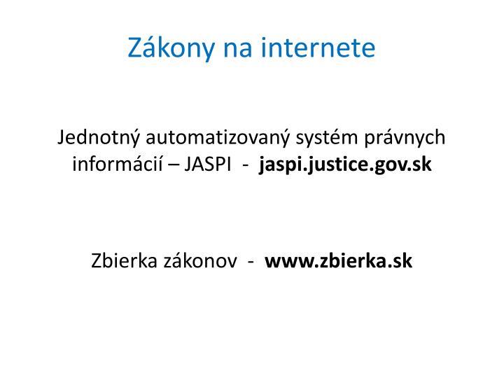 Zákony na internete