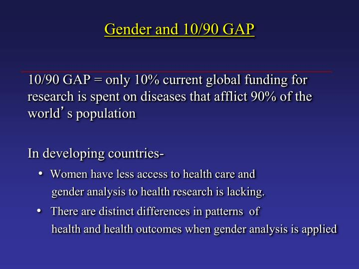 Gender and 10 90 gap