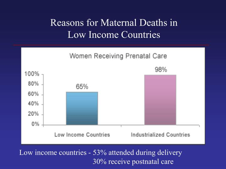 Reasons for Maternal Deaths in