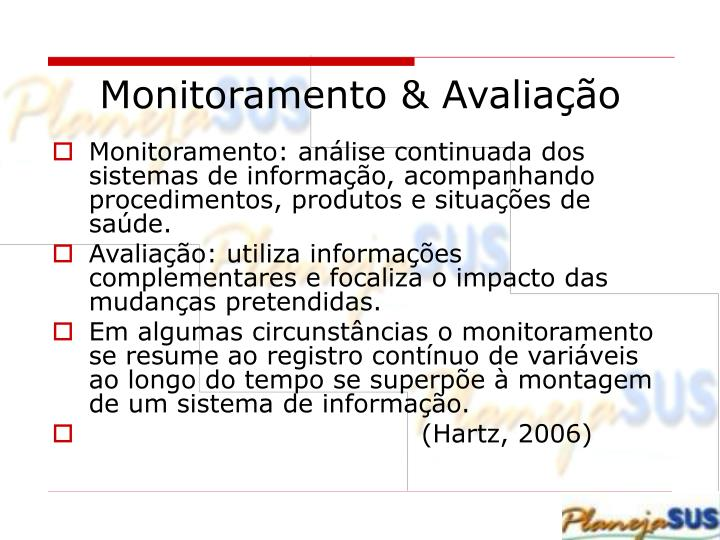 Monitoramento & Avaliação
