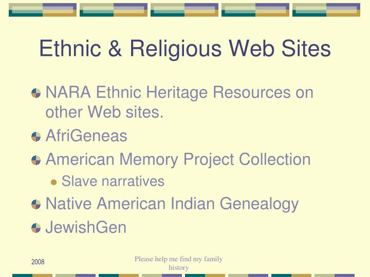 Ethnic & Religious Web Sites