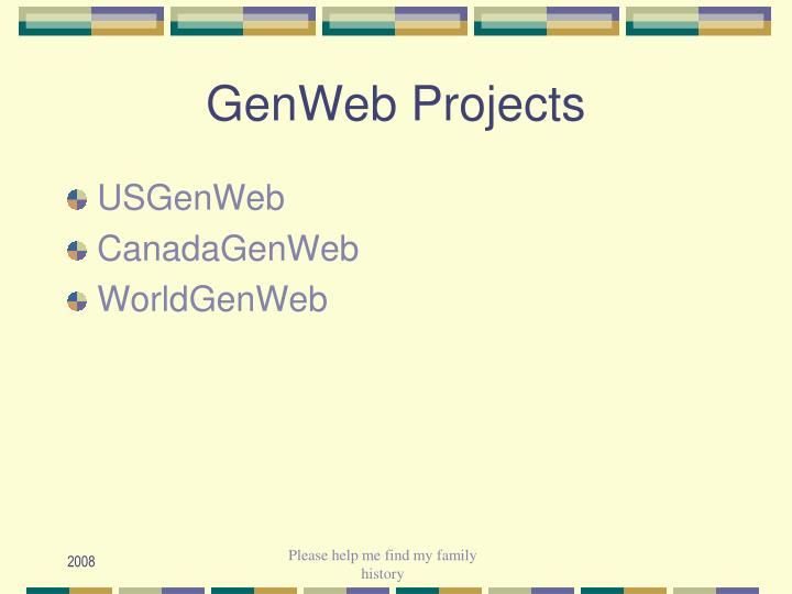 GenWeb Projects