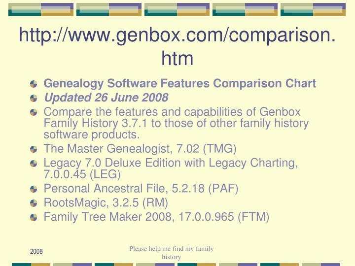 http://www.genbox.com/comparison.htm