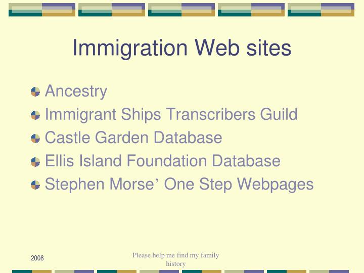Immigration Web sites